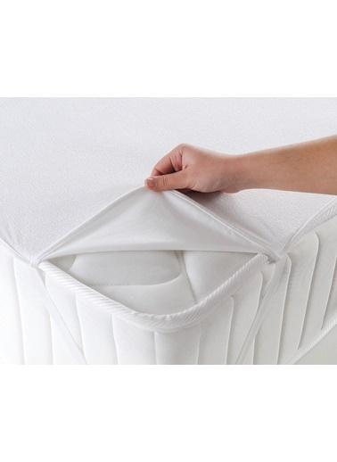 Firuze Sıvı Geçirmez Yatak Koruyucu Alez - Ölcü 160x200 Beyaz